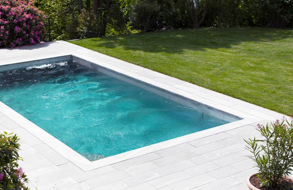 Pool mit str mungsanlage und hubboden in z rich tz leipzig - Pool mit stahlrahmen ...